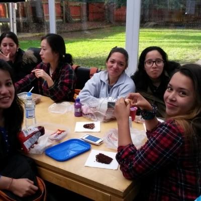 Inglaterra 2015 - Almorzando en la Escuela